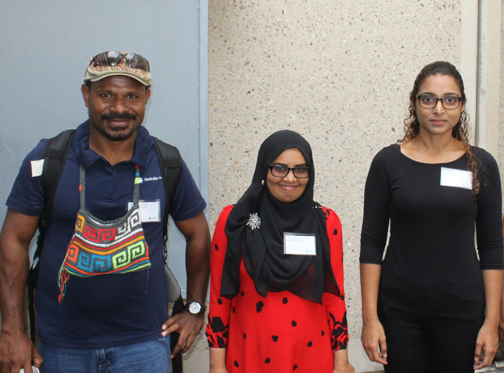 Arnold Patiken, Aminath Sunooha Ali and Sajida Ahmed