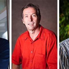 ARC grant winners Dr David Adamson, Professor John Quiggin and Dr Kenan Kalayci