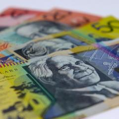 Australian banknotes.
