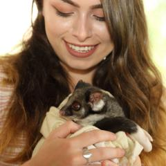 Lady with possum