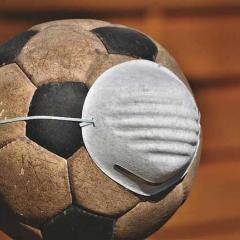 soccer ball with respiratory mask