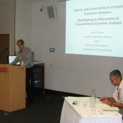John Foster presenting