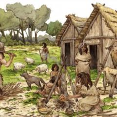Image of stone age people